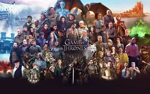 Game Of Thrones Poster Length :800 mm Height: 500 mm SKU: 5780