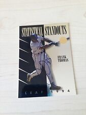 Frank Thomas White Sox Signed 1994 Leaf Insert Card COA