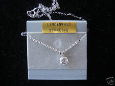 sterling petite chain Cz Pendant on