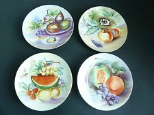 UCAGCO 4- Different China Hand Painted Japan ~ Signed Fruit Decorative Plate