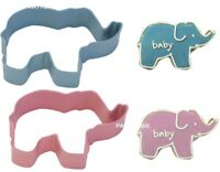 Baby Shower Party Elephant Cookie Cutters Pink Blue Biscuits Cakes Christening