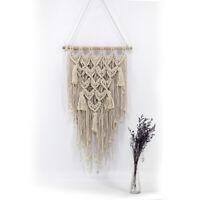 Macrame Knitted Rope Tapestry Tassel Bohemian Woven Wall Hangings Handmade Decor