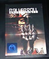Rollerball Uncut Limitata Mediabook Doppio blu ray + DVD 24 Seiti Opuscolo Nuovo