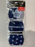 TORONTO MAPLE LEAFS 3 PK YOUTH FACE MASK COVERS - REUSABLE WASHABLE COTTON LINED