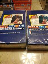 (2) 1990-91 NBA Hoops Basketball Unopened Retail Wax Box SEALED MICHAEL JORDAN
