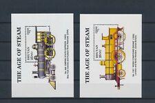 LM84402 Bhutan railroads locomotives trains sheets MNH