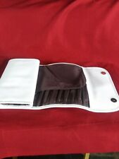 Bare Eescentuals Roll U Brush case White With Magnetic Buttons. Mint condition