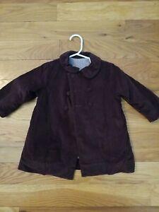 Ragsland Corduroy Brown Coat/Jacket 18 M Boy Or Girl Gingham Lining