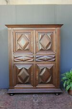 Vintage French Oak linen cupboard.