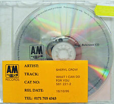 SHERYL CROW CD What I Can Do For You UK REFERENCE Rare In-House PROMO Only