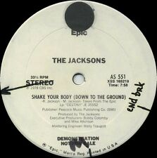 JACKSONS Shake Your Body b/w Things I Do For You (1979 US White Label Promo 12in