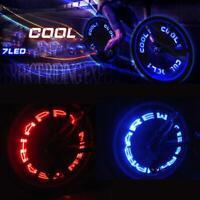2PCS LED Valve Lamp Bike Wheel Tire Spoke Neon Light MTB Flash Letter Bicycle