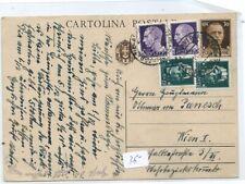 1939 CARTOLINA POSTALE X AUSTRIA CON IMPERIALE 7,5C+15C.