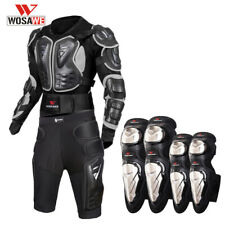 Motorcycle Full Body Protective Gear MTB Spine Chest Protector Armor Knee Pads