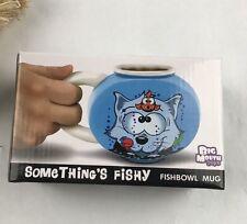 Something's Fishy Fishbowl Mug Funny Novelty Mug Drink Coffee Gift Fun