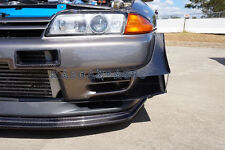 FRP FIBER GLASS TBO STYLE FRONT BUMPER CANARD FIN DUCT TRIM FOR NISSAN R32 GTR