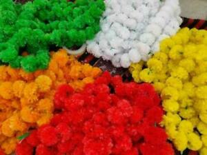 Assorted 50 Pieces Of Indian Decoration Flower Strings Torans Garland Lines Vine