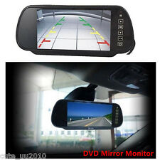 "7""HD LCD TFT Color Screen Car Reverse Rear View Backup Camera DVD Mirror Monitor"