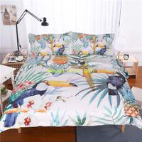 Toucan Bird Single/Double/Queen/King/SK Size Bed Quilt/Doona/Duvet Cover Set