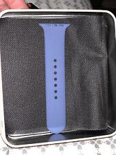 S/M Extender Sports Wrist Band Bracelet for 42mm Apple Watch - Blue