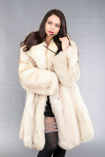 4199 GORGEOUS REAL BLUE FOX FUR COAT LUXURY FUR JACKET BEAUTIFUL LOOK SIZE S