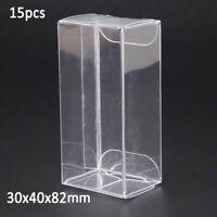 15pcs/set 1/64 Model Car Plastic Display Box For Matchbox  TOMICA Transparent