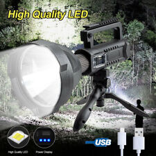 Powerful 200000LM LED Flashlight Rechargeable 4Mode Work Light Torch Searchlight