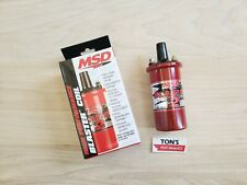 MSD 8202 Ignition Coil Blaster 2 Canister Round Oil Filled Red 45000 V Ea
