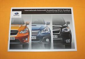 Subaru Programm 2013 Prospekt Brochure Catalog Depliant Folder Prospetto WRX