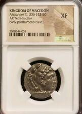 Kingdom Of Macedon Alexander III Tetradrachm NGC XF Ancient Silver Coin