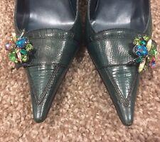 Jade Green ladies Faith Stilletto Shoes Size 4 Animal Print Effect