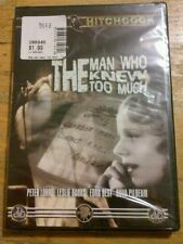 The Man Who Knew Too Much (DVD, 2004) Alfred Hitchcock Peter Lorre  New Sealed