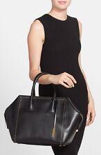 NEW 1,700+ STELLA MCCARTNEY Studded Vegan BLACK Leather Boston Tote Bag Studs