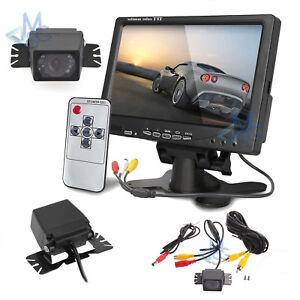 """Kit Retromarcia Monitor 7"""" e Retrocamera HD Angolo 170° per Auto Camper Furgoni"""