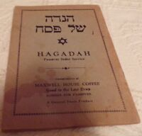 Hagadah Passover Seder Service 1939 Edition:  Compliments of Folger Coffee
