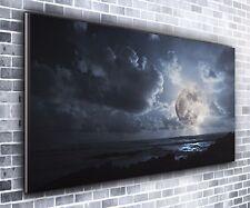 Belle Lune Panoramique Wall Art Toile Impression XXL 4.5 Ft (environ 1.37 m) Large X 2 FT (environ 0.61 m) de haute NEUF