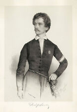 Portrait of Sandor Petöfi Miklos Barabas K&K Ungarischer Dichter B A3 02900