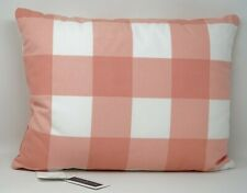 """Charter Club Damask Designs Gingham 14"""" x 18"""" Checkered Decorative Pillow - Pink"""