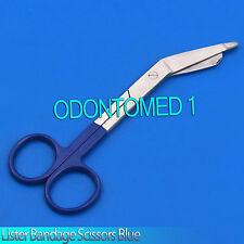 """1 Lister Bandage Nurse Scissors 5.5"""" Blue Ring Colormed Instruments"""
