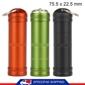 Outdoor EDC Survival Waterproof Pill Match Case Box Container Bottle Kits Tool