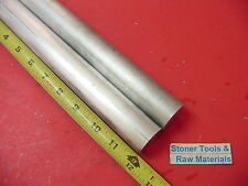 """2 pieces 1-1/4"""" ALUMINUM 6061 ROUND ROD 12"""" long T6511 1.25"""" OD SOLID BAR STOCK"""