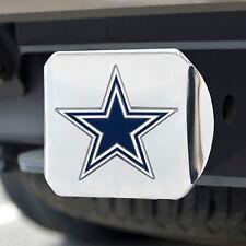 Dallas Cowboys Heavy Duty 3-D Color Emblem Chrome Metal Hitch Cover