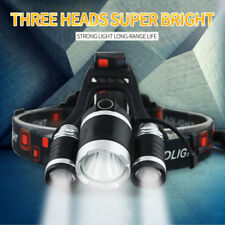 6000Lumens 3xXML CREE T6LED Rechargeable Head Torch Headlamp Fishing Light B5X3Z