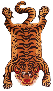 Tibetan Tiger Rug With 100% Woolen, 3x5 feet for Home Décor
