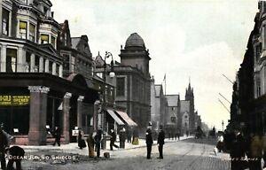 Co Durham Postcard 1906 Ocean Road Policemen South Shields Jude's Series Local