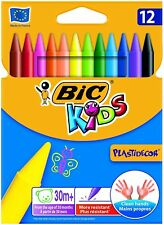 BIC KIDS Wachsmalkreide Plastidecor, 12er Kartonetui