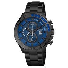 Citizen Eco-Drive Men's CA0525-50L Titanium Chronograph Black Sport Watch