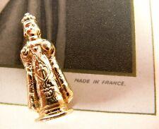 Vintage French Religious Pocket Shrine Statue 22K Gold Plate Infant of Prague