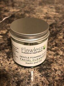 Flawless Kaolin & Oat Gentle Foaming Clay Facial Cleanser, 120ml, Vegan, New