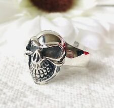 Thai 925 Sterling Silver Skull Ring Size O
